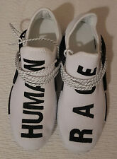 Mens Human Race Knit Casual Walking Running Gym SPORT Trainers Shoes White
