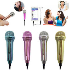 Mini Karaoke Condenser Wired 3.5mm Stereo Handheld Mic For Android Mobile Phone