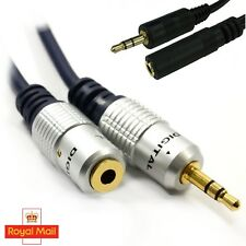 Headphone Audio Extension Cable Pro Metal 3.5mm Male Stereo Jack to Female 1m-3m