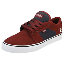 Etnies Barge Ls Mens Red Navy Suede & Canvas Trainers