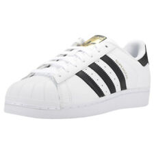 adidas Superstar Unisex White Black Leather Trainers