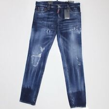 DSquared2 Paint Splatter Distressed Slim Fit Jeans