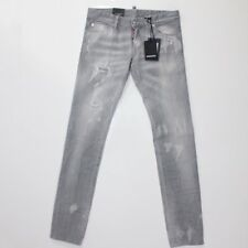 DSquared2 Grey Denim Clement Distressed Slim Fit Jeans