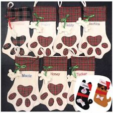 PET STOCKING Personalised Embroidered Christmas Xmas, Cat & Dog, Kitten & Puppy