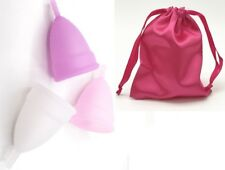 Reusable Silicon Female Menstrual Cup Feminine Hygiene Size S and L, UK Seller