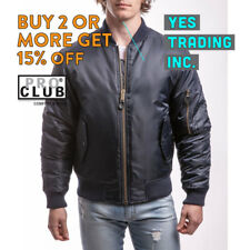 PROCLUB PRO CLUB MENS BOMBER JACKET MA-1 FLIGHT JACKETS MILITARY BIKER HEAVYDUTY