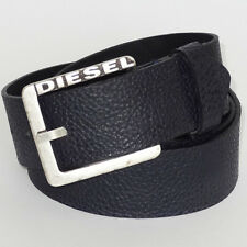 DIESEL NEW Belt 'Special Rags 8' Men`s 100% Cow Leather NAVY belt made in ITALY