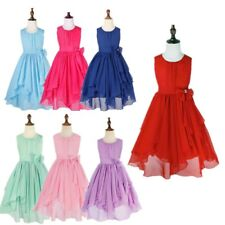 Flower Girls Chiffon Dress Bridesmaid Party Princess Wedding Christening Gown