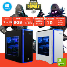 Fast i3/i5 Fortnite Gaming PC 8GB DDR3 RAM 1TB HDD GT710 2GB Windows 10
