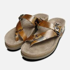 Ladies Helen in Brown Snake Skin Patent Leather Mephisto Sandals