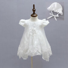 Ivory Beaded Christening Clothing Baby Christening Gown Embroidery Baptism Dress