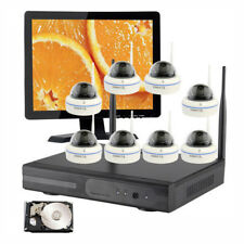 Home Surveillance CCTV Wireless Security Cameras System w/ Hard Drive & Monitor