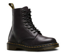 Mens Dr Martens Pascal 8 Eye Black Charcoal Antique Temperley Leather Boots New