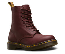 Mens Dr Martens 1460 Pascal 8 Eye Cherry Red Virginia Leather Boots New In Box