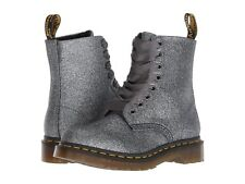 Mens Dr Martens 1460 Pascal 8 Eye Pewter Gray Glitter Polyurethane Boots New