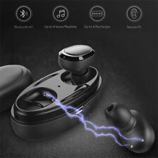 Wireless Earbuds TWS Mini True Bluetooth Twins Stereo Earphone In-Ear Headset D