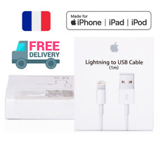 CABLE 100% ORIGINAL POUR APPLE IPHONE 5 6 7 8 X IPAD CHARGEUR LIGHTNING USB FR
