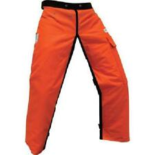 """Forester Chainsaw Safety Chaps with Pocket, Apron Style (Long 40"""", Orange)"""