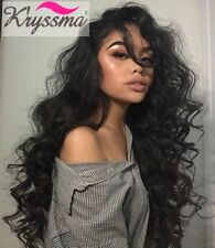 "26"" Curly Human Hair Lace Wigs 7A Brazilian Remy Human Hair 13X6 Lace Front Wigs"
