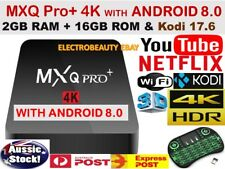 MXQ PRO+ 4K QUAD Core 4K KODI Android 8 Smart TV Box Media Player Netflix Google