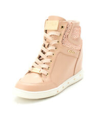 Bebe Womens Cairi Hight Top Lace Up Fashion Sneakers