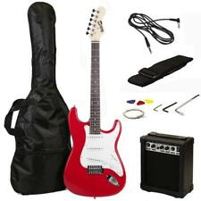 Rockjam Full Size Electric Guitar Superkit With Amp, Strings, Strap, Case And Ca