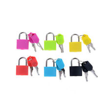 Small Mini Strong Steel Padlock Travel Tiny Suitcase Lock with 2 Keys aq