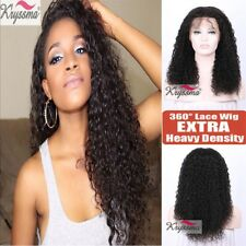 Curly Pre Plucked 360 Frontal Wig Brazilian Remy Human Hair Full Lace Band Wigs