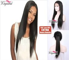 360 Lace Wig Real Brazilian Straight Human Hair Remy Full Lace Frontal Band Wigs