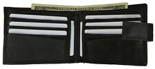 MENS WALLET GENUINE LEATHER BIFOLD CARD HOLDER PURSE ZIPPER COIN POCKET FASHION