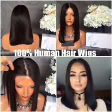 Straight Short Bob Wig Brazilian Remy Human Hair Lace Front Wigs for Black Women