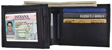 GENUINE LEATHER WALLET PURSE CARD HOLDER CREDIT COIN POCKET FASHION MENS BIFOLD