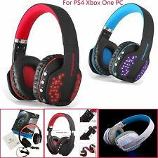 Wireless Pro Gaming Headset 4.1 BT for Xbox One PC PS4 With Mic LED Q2 Headphone
