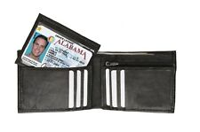 WALLET GENUINE LEATHER PURSE BIFOLD CARD HOLDER COIN POCKET REMOVABLE ID MENS