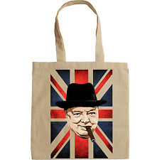WINSTON CHURCHILL WWII - NEW AMAZING GRAPHIC HAND BAG/TOTE BAG