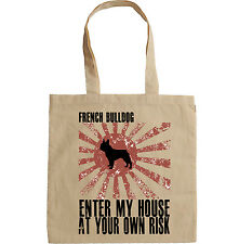 FRENCH BULLDOG ENTER MY HOUSE - NEW AMAZING GRAPHIC HAND BAG/TOTE BAG