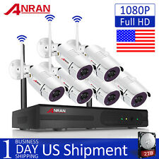 ANRAN 1080P 2TB HDD Outdoor Wireless Security IP Camera System WiFi CCTV 8CH NVR