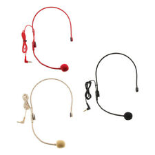 MagiDeal Wired 3.5mm Headset Headworn Microphone Condenser Mic for Teaching