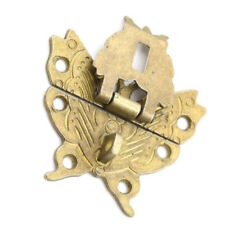 Butterfly Antique Latch Catch Jewelry Wooden Box Lock Hasp Pad Chest Lock Sale G