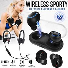 Bluetooth Wireless Headphones Sporting Running Earbuds Earphones Water-Resistant