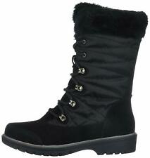 Bare Traps Womens Satin Suede Round Toe Mid-Calf Cold Weather Boots