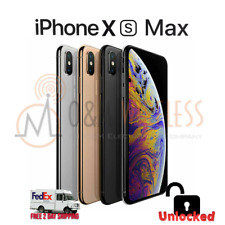 Apple iPhone XS MAX (A1921), Factory Unlocked - 64GB 256GB 512GB - All colors
