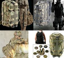 Outdoor Military Tactical Backpack 30L Molle Bag Army Travel Rucksack Camping