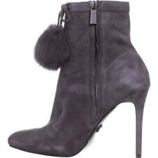 Michael Michael Kors Womens Remi Bootie Fur Almond Toe Ankle Fashion Boots