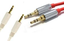 PRO 3.5mm Jack Male to Male Stereo Audio Cable GOLD Car Mobile Red,white Lead UK
