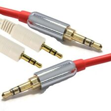 3.5mm Pro Audio stereo Gold end Audio Lead jack Male/Male sound RED,WHITE Color