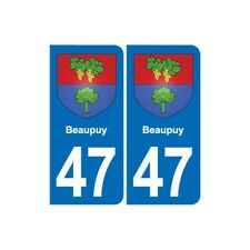 47 Beaupuy blason autocollant plaque stickers ville