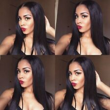 """360 Frontal Wig Pre Plucked Brazilian Straight Remy Human Hair Lace Wigs 10-22"""""""