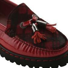 Elevated Womens Jesse Patent Leather Round Toe Loafers