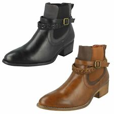 Down To Earth Ladies Heeled Ankle Boots